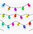 multicolored garlands seamless pattern beautiful vector image