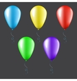 Set of balloons isolated vector image