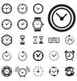 time or clock icon isolated vector image