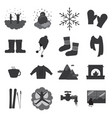 winter solid icons vector image