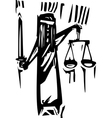 Justice vector image vector image