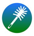 toilet brush doodle  white icon in bluish vector image