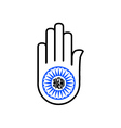 Symbol of Jainism- Ahimsa vector image vector image