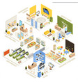 shopping mall isometric composition poster vector image