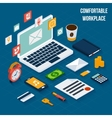 Workplace elements isometric vector image