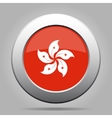 metal button with flag of Hong Kong vector image