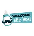 Baby Shower Greeting Emblem vector image