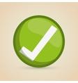 Check mark icon design vector image