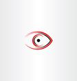 human eye icon symbol stylized sign vector image