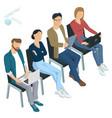 isometric people briefing business training vector image