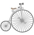 Old vintage bicycle vector image