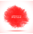 Red Watercolor splatter vector image