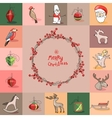 Set with Christmas templates For festive design vector image