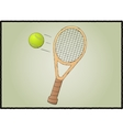 Tennis racket with ball vector image