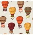 Vintage seamless pattern of hot air balloons vector image