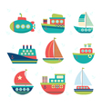 Different kind of boats Set of sea transport vector image