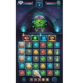 Monster battle GUI freak with brain vector image vector image