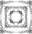 Set of vintage ornate frames vector image