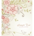 Hand-Drawn Sketch floral composition vector image vector image