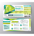 Abstract Polygon Boarding Pass Event Ticket card vector image vector image