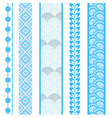 Set of abstract pattern stripes vector image