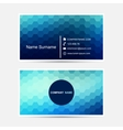 business card template Blue design vector image