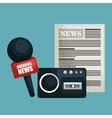 breaking news design vector image