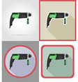 Electric repair tools flat icons 02 vector image