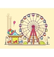 Funfair with ferris wheel vector image