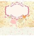 Retro dots floral card vector image