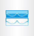 sea wave abstract icon design vector image