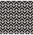 Seamless Black and White Geometric Chevron vector image