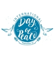 September 21 International Day of Peace vector image