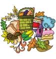 Thanksgiving doodle art design vector image