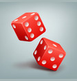 red falling dice vector image