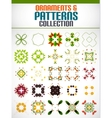 Abstract floral patterns shapes set for design vector image vector image