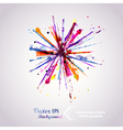 Abstract hand drawn watercolor background firework vector image