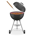brazier for barbecue 03 vector image vector image