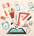 School Items - Learn and Study Management vector image vector image