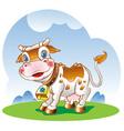 dairy cow vector image vector image