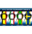Soccer Euro Group E vector image