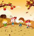 Autumn Kids vector image