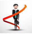 businessman with arrow vector image