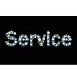Diamond word service vector image