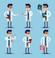 doctor chemist pharmacist surgeon man cartoon vector image