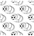 Flying soccer balls seamless pattern vector image
