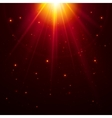 Red top magic light vector image