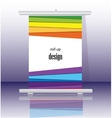 Roll up banner stand design vector image