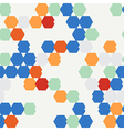 seamless texture of colored hexagon vector image