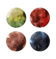 Set of colorful watercolor circles vector image